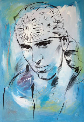 Slim Shady Painting - Eminem Art Painting Poster by Kim Wang