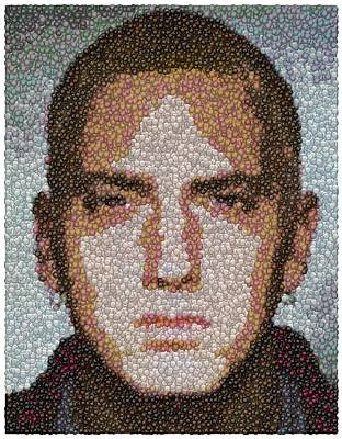 Slim Shady Photograph - Eminem M And M Candy Mosaic by Paul Van Scott