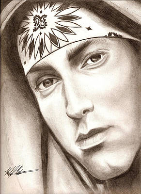Drawing - Eminem by Michael Mestas
