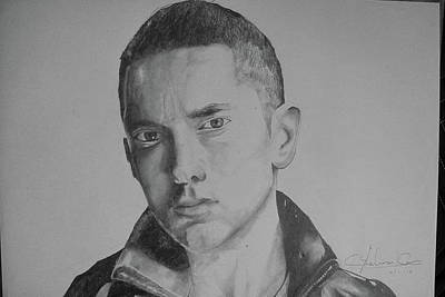 Songwritter Drawing - Eminem by Sarthak Palwankar