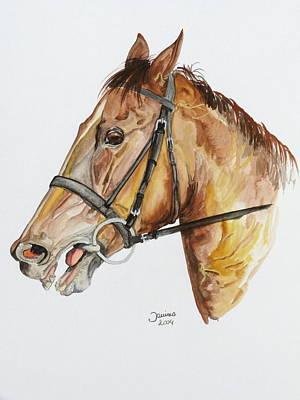 Emir The Horse Art Print by Janina  Suuronen
