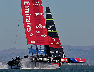 Photograph - Emirates Team New Zealand America's Cup Challenger by Steven Lapkin