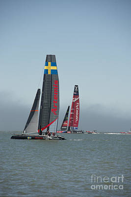 Photograph - Emirates Team New Zealand And Sweden Artemis by David Bearden