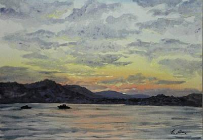Bosphorous Painting - Emirgan Sunrise by Rebecca Davis