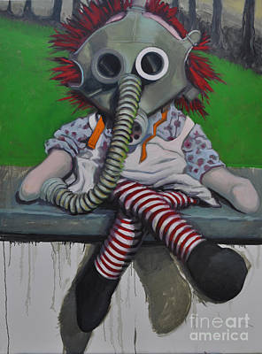 Raggedy Ann Painting - Emission by Linda Guenste