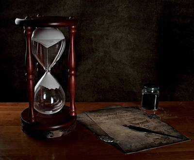 Caligraphy Photograph - Emit Time Is For The Mad by Chrystyne Novack