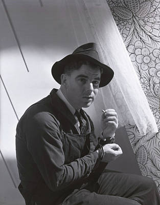 Photograph - Emlyn Williams Smoking by Horst P. Horst