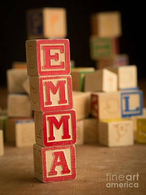 Emma - Alphabet Blocks Print by Edward Fielding