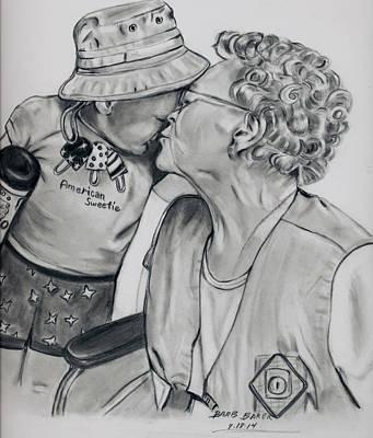 Emma And Great Grandma Art Print