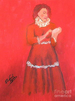 Painting - Emma Smith Pioneer Woman 1 by Richard W Linford