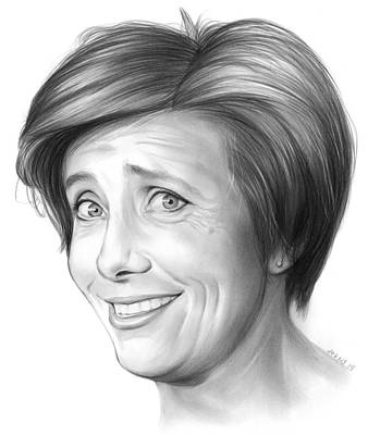 Author Drawing - Emma Thompson by Greg Joens