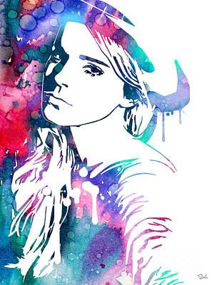 Emma Painting - Emma Watson by Luke and Slavi