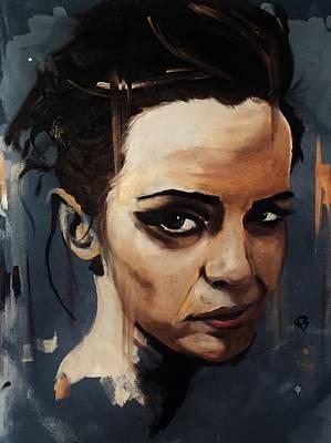 Painting - Emma Watson by Matt Burke