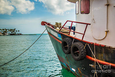 Photograph - Emmanuel Tug Boat In The Caribbean by Rene Triay Photography