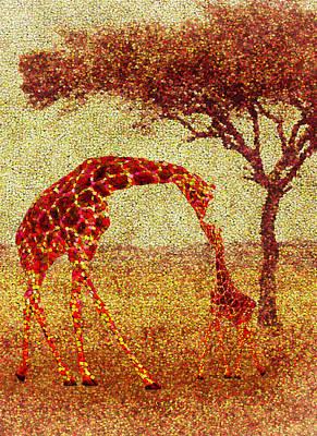Baby Giraffe Painting - Emma's Giraffe by Jack Zulli