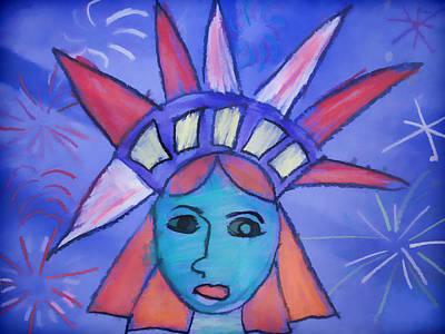Emma's Lady Liberty Art Print by Alice Gipson
