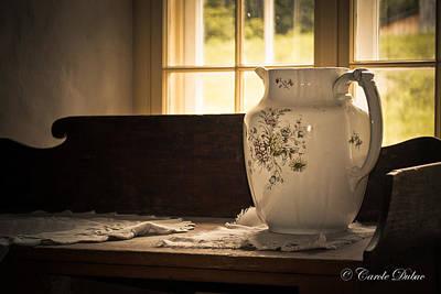 Chamber Pot Photograph - Emma's Vase by Carole Dubuc