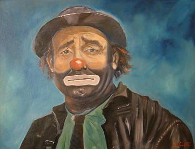 Emmett Kelly Painting - Emmett Kelly Sr by Christina Clare