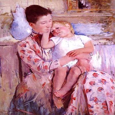 Painting - Emmie N Her Child by Florene Welebny