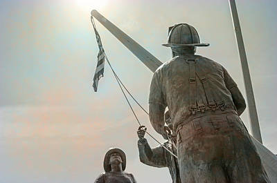 Photograph - Emmitsburg 9 - 11 Firefighter Memorial  by Susan  McMenamin