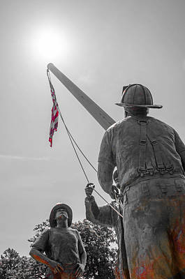 Photograph - Emmitsburg 9 - 11 Memorial by Susan  McMenamin