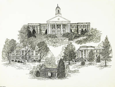 Emory And Henry College Art Print by Liz Bryant