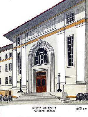 Drawing - Emory University by Frederic Kohli