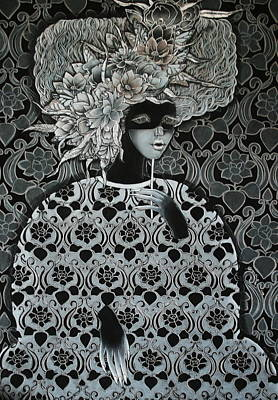 Emotion Of Grey Art Print
