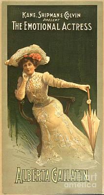 Emotional Actress 1906 Art Print