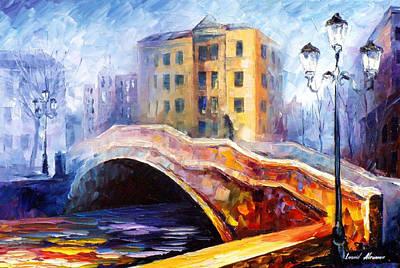 Emotional Autumn - Palette Knife Oil Painting On Canvas By Leonid Afremov Original by Leonid Afremov