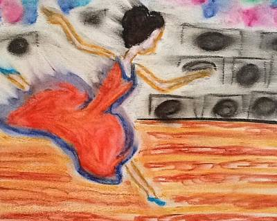 Emotional Dance Art Print