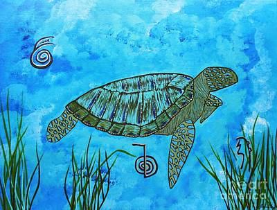 Emotional Healing With The Sea Turtle Art Print