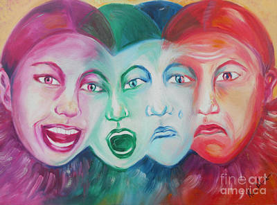Emotions Art Print by Melanie Alcantara Correia