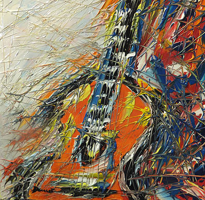 Chitarra Painting - Emozioni Da Una Chitarra by Enrico Nicodemo