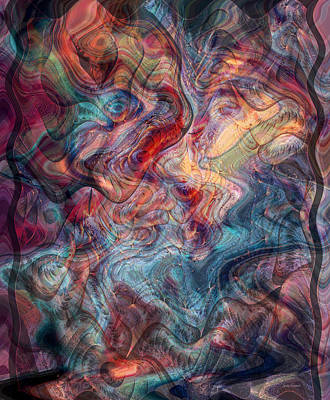 Abstract Movement Digital Art - Empathic Psychic by Linda Sannuti