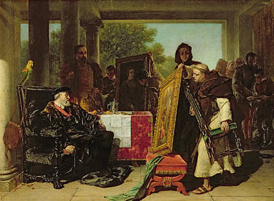 King Parrot Painting - Emperor Charles V At The Convent by Alfred W. Elmore