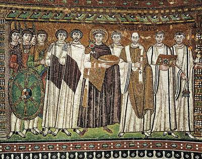 Byzantine Photograph - Emperor Justinian And His Court. Ca by Everett
