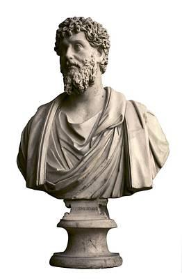 Statue Portrait Photograph - Emperor Lucius Septimius Severus. Ca by Everett