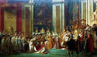 Painting - Emperor Napoleon At Coronation Of by Peter Barritt