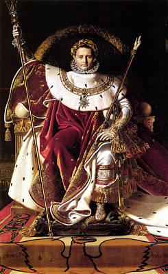 Emperor Napoleon I On His Imperial Throne Art Print