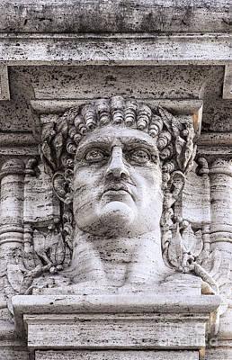 Caesar Augustus Photograph - Emperor Nero Head Statue by Antony McAulay