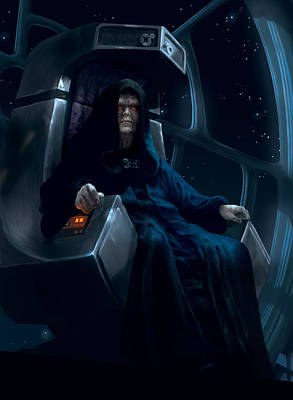 Digital Art - Emperor Palpatine by Ryan Barger