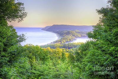 Scenic Drive Photograph - Empire Bluff Trail Overlook by Twenty Two North Photography
