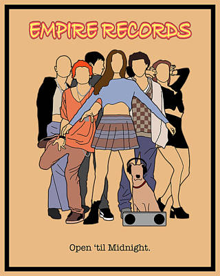 Liv Tyler Digital Art - Empire Records Movie Poster by Finlay McNevin