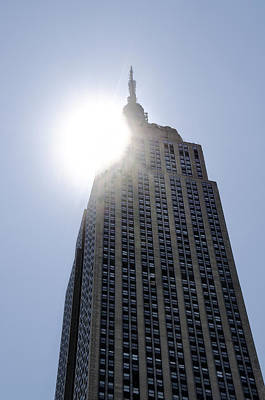 Empire State At Hign Noon Print by Bill Cannon