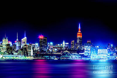 Skylines Royalty Free Images - Empire State At Night Royalty-Free Image by Az Jackson