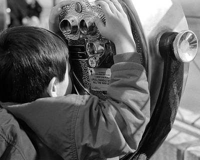 Photograph - Empire State Binoculars Kid by Dave Beckerman