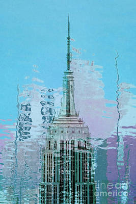 Skylines Digital Art - Empire State Building 1 by Az Jackson