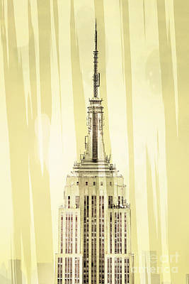 Pastels Digital Art - Empire State Building 2 by Az Jackson
