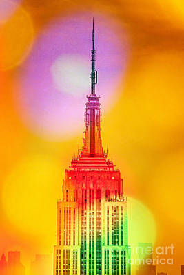 Skylines Digital Art - Empire State Building 6 by Az Jackson